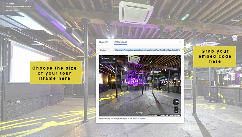How to share your Google Maps Street View virtual tour in your website or social media pages, part 2